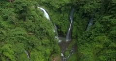 Three waterfalls - stock footage