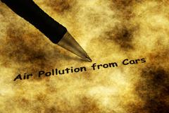 Air pollution from cars grunge concept - stock photo