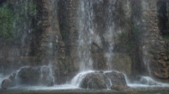 Breathtaking powerful waterfall in mountains Stock Footage