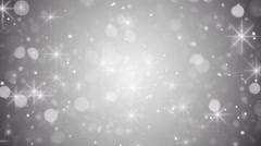 Silver bokeh and sparkles loop 4k (4096x2304) Stock Footage