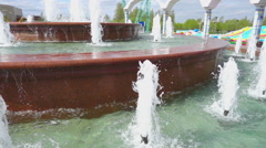 Jets of a fountain slow motion - stock footage