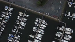 Marina flyby Aerial View Australia Stock Footage