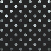 Black and Silver Polka Dot Pattern Swiss Dots Texture Digital Paper - stock illustration