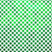 Shamrock Four Leaf Clover St. Patrick's Day Polka Dot Irish Green Background - stock illustration