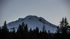 Mt Hood, Oregon Mountain Landscape Long Exposure Night to Day Timelapse - stock footage