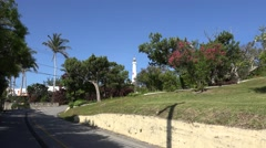 Scenic road to the Gibbs Hill lighthouse (St Anne's Road). Bermuda. Stock Footage