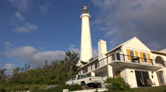 Gibbs Hill Lighthouse Bermuda. Stock Footage
