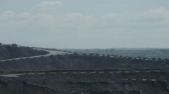 Cars carry coal Timelapse Stock Footage