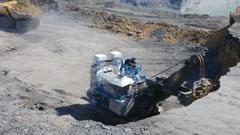 Excavator digs Timelapse Stock Footage