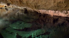 Speleothem in the Fantasy Cave, Bermuda. - stock footage