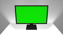 Computer Monitor / White Room / Software Presentation Mock-Up - stock footage