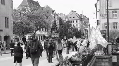 March in Strasbourg against labor law Stock Footage