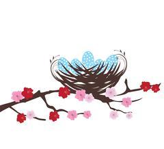 Bird Nest - stock illustration