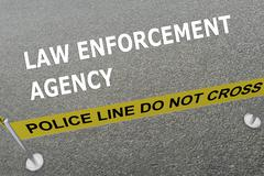 Law Enforcement Agency concept Stock Illustration