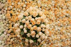Beautiful flowers background for wedding scene Stock Photos