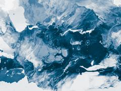 Abstract acrylic painted waves, handmade surface. Stock Photos