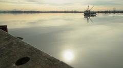 Seine Boat, Fraser River, BC. 4K UHD - stock footage