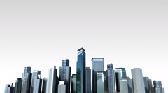Construction building city skyline and make city in animation.2 - stock footage