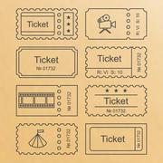 Ticket set icon - stock illustration