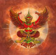 Garuda, Thai mythology eagle or bird Stock Illustration