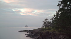 Car Ferry, Gulf Islands, BC. 4K UHD Stock Footage