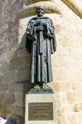 Caceres Cathedral statue of San Pedro de Alcantara Stock Photos