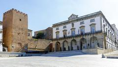 City Hall Plaza Mayor in Caceres - stock photo