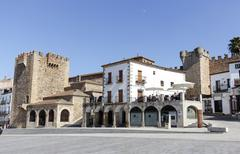 Square of Caceres Extremadura Spain - stock photo