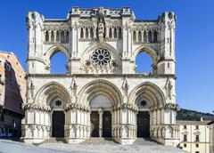 View of the Gothic cathedral in Cuenca Stock Photos
