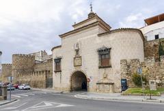 Door Trujillo of Plasencia, Caceres, Spain - stock photo