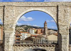 The Aqueduct Arches, Teruel Spain Stock Photos