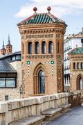 Aragon Teruel Mudejar city buildings near Escalinata Stock Photos