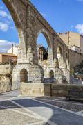 The Aqueduct Arches, Teruel Spain - stock photo