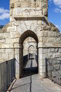 The Aqueduct Arches, Teruel Spain Stock Photos