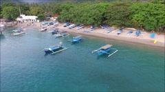 Aerial view of Senggigi Beach, Lombok, Idonesia. Stock Footage