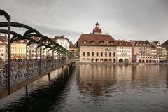 City views from downtown Luzern (Lucerne), Switzerland Stock Photos
