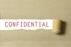 Red color confidential word - stock photo