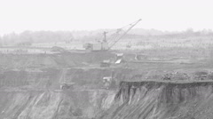 Large trucks carry coal Stock Footage
