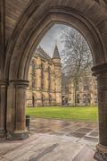Glasgow University ThroughThe Archway - stock photo