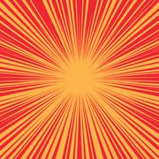 Bright burst background retro comic pop art - stock illustration