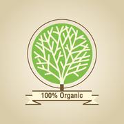 Natural Organic Labels - stock illustration