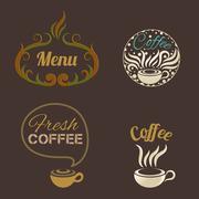 Coffee Ornaments vector Stock Illustration
