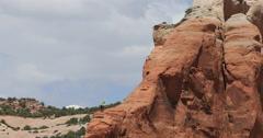 Rock climbers Moab Utah red rock mountains heat waves DCI 4K - stock footage