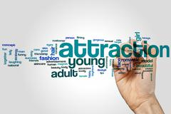 Attraction word cloud Stock Photos