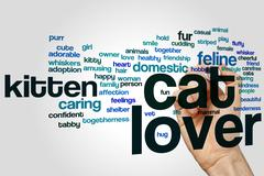 Cat lover word cloud Stock Photos