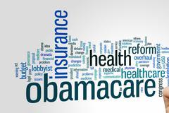 Obamacare word cloud Stock Photos