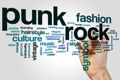 Punk rock word cloud - stock photo