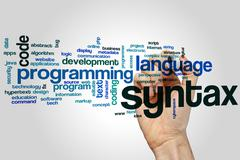 Syntax word cloud Stock Photos