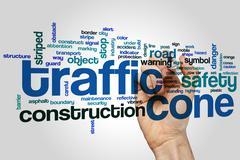 Traffic cone word cloud Stock Photos