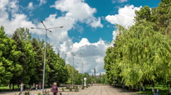 4k,hyperlapse via the municipal park 1 Stock Footage